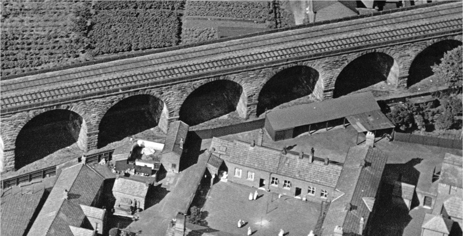 An aerial view of the Northwich Union Workhouse in the 1920s